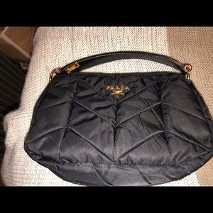 37d1860112fc Prada. Prada-Tessuto Chevron Quilted Black Nylon Hobo Bag